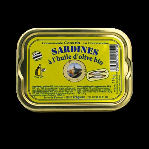 Conserverie Courtin - Sardines op biologische olijfolie
