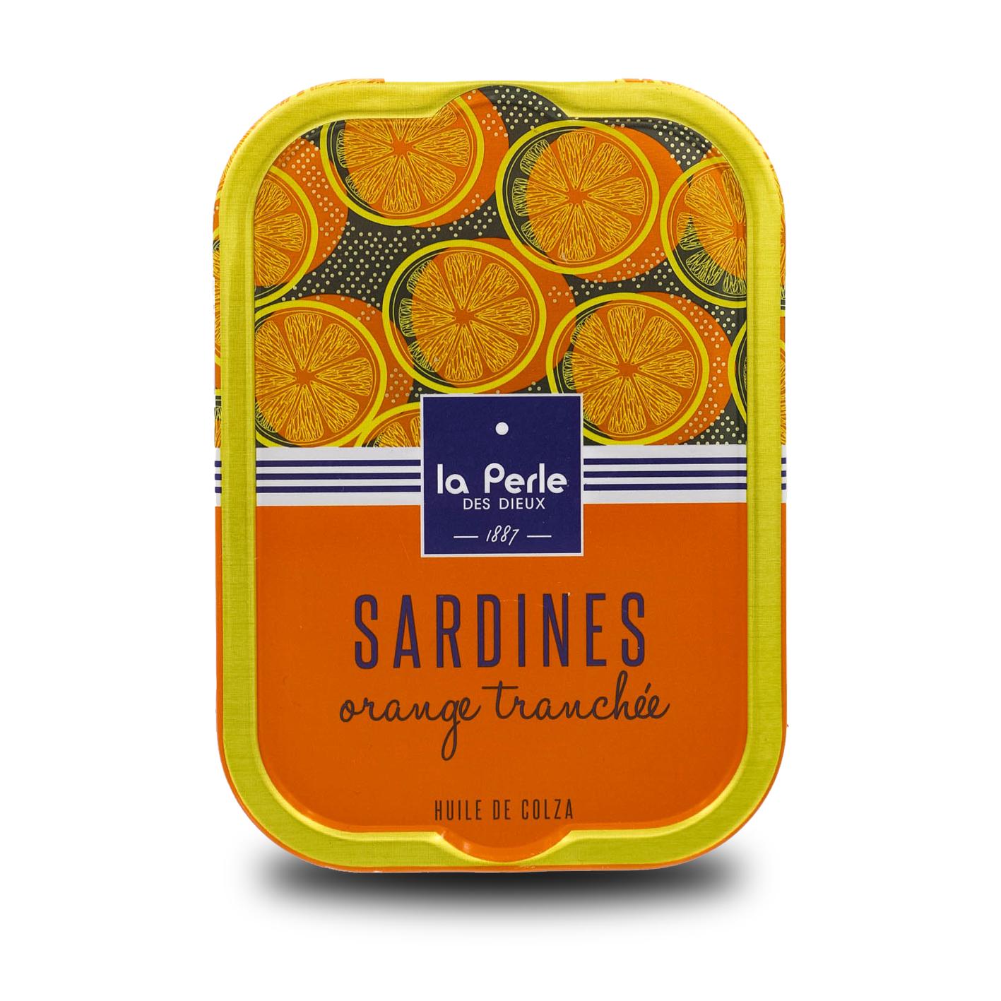 La Perle des Dieux – Sardines op koolzaadolie met sinaasappel