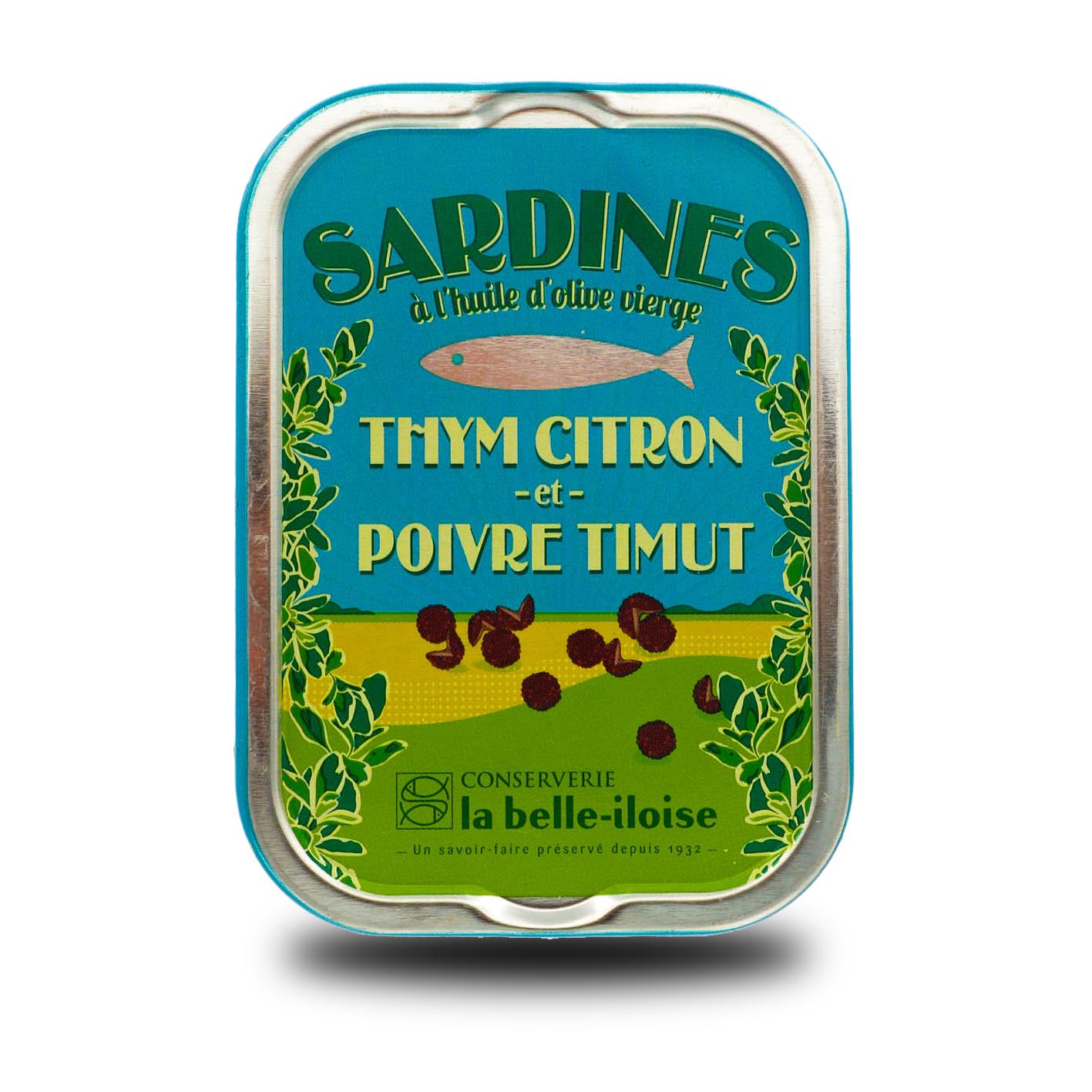 La belle-iloise – Sardines met tijm, citroen en timut peper