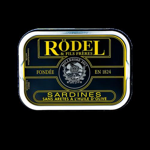 Conserverie Rödel - Sardines op olijfolie zonder graat Millésimées 2017