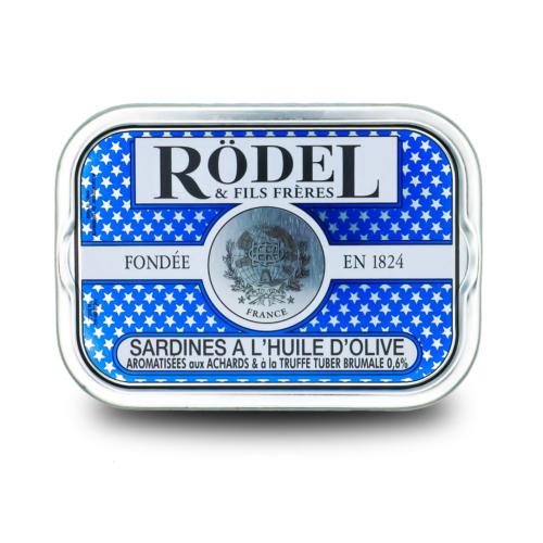 Conserverie Rödel -Sardines op olijfolie met wintertruffel