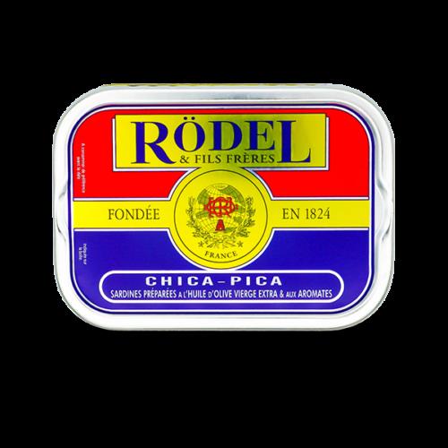 Conserverie Rödel - Sardines in olijfolie met chica pica