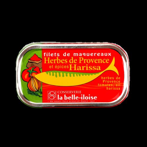 La belle-iloise - Makreelfilet met Provençaalse en Harissa kruiden