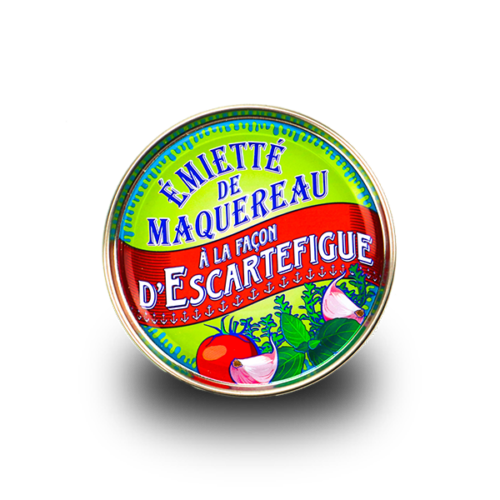 La belle-iloise - Makreel émietté met tomaat en knoflook en Provençaalse kruiden