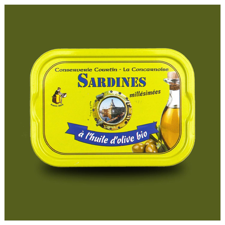 Conserverie Courtin Sardines in biologische olijfolie
