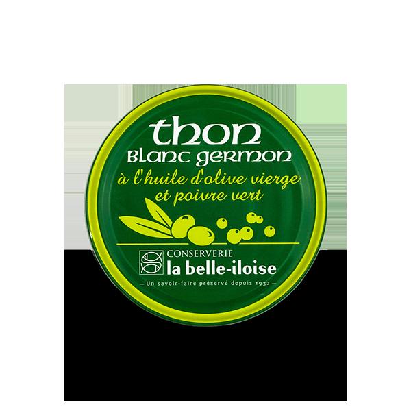 Witte germon tonijn met groene pepers 160gr.