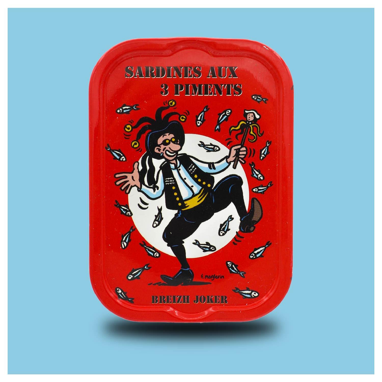 Sardines Millésimées met drie chillipepers La Quiberonnaise
