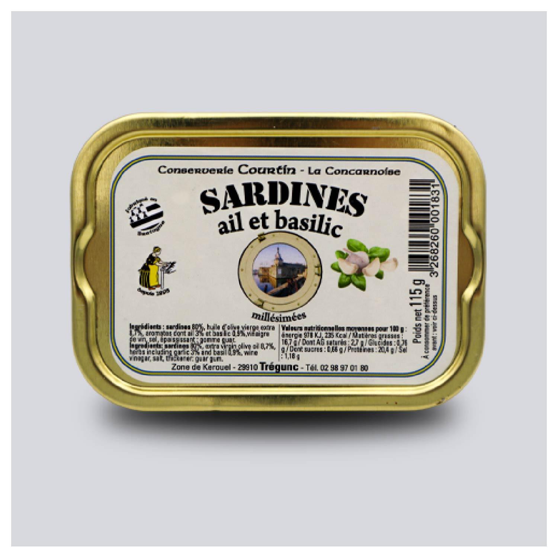 Sardines met knoflook en basilicum Millésimées 2018