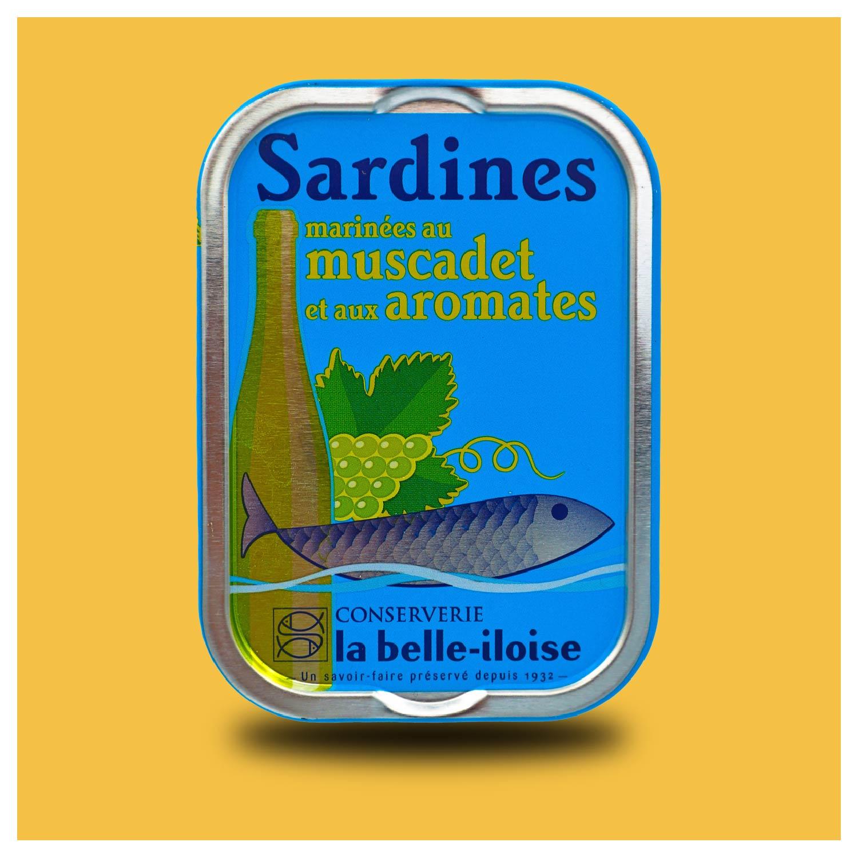 La belle-iloise – Sardines op Muscadet wijn Millésimées 2018