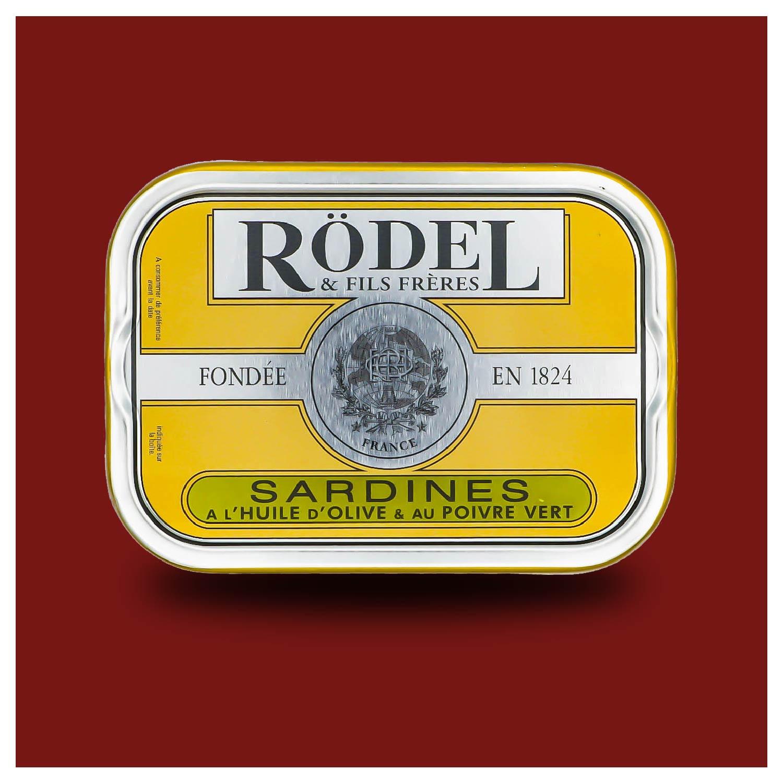 Sardines met groene peper van conserverie Rödel