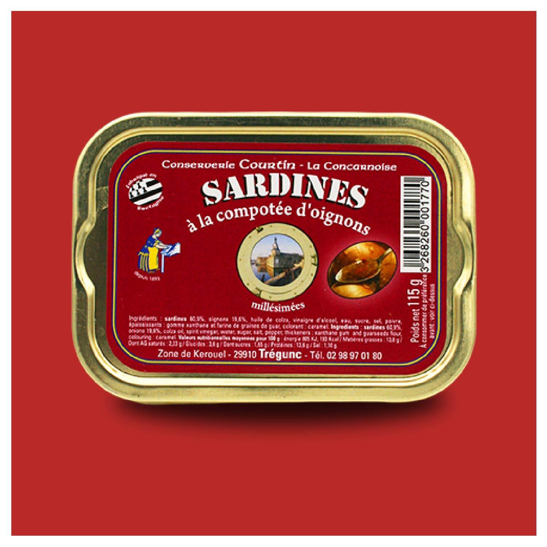 Sardines met uiencompote
