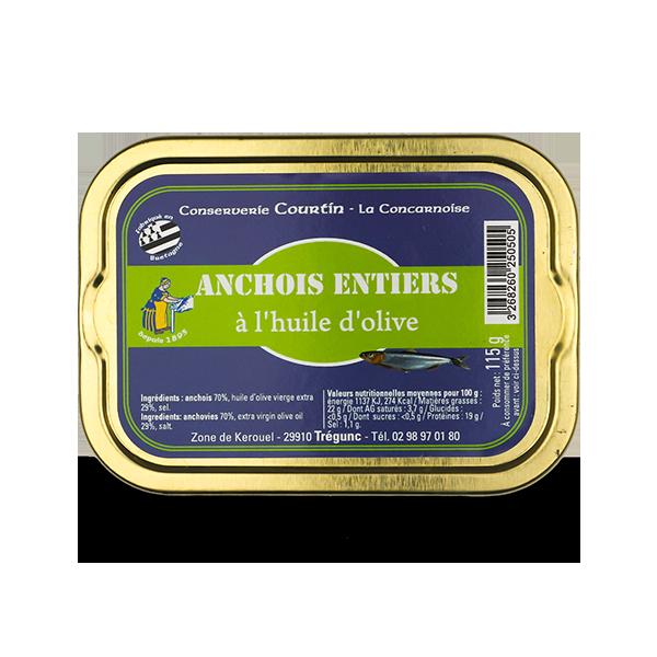 Ansjovis op olijfolie