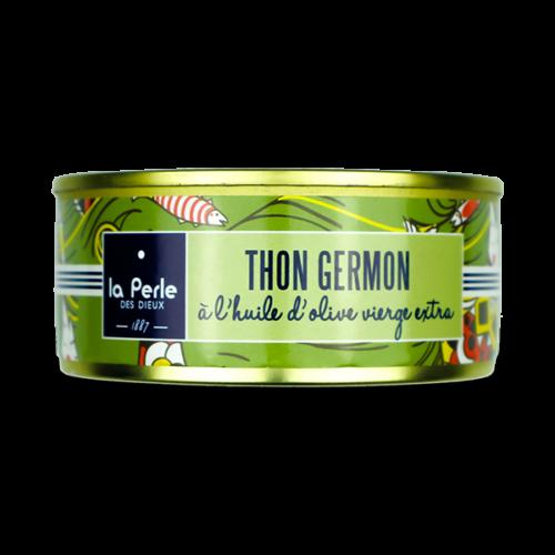 Witte germon tonijn op olijfolie