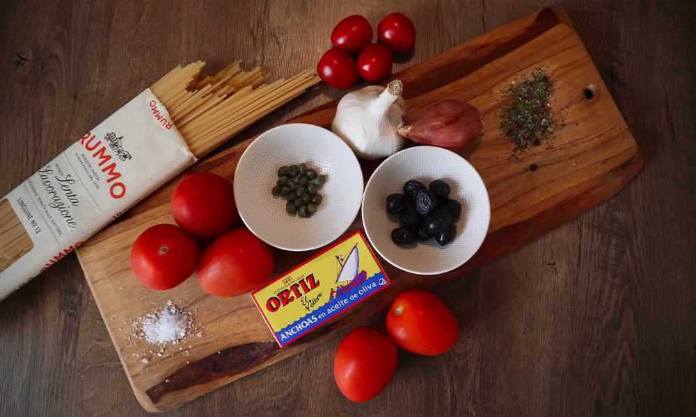 Ingrediënten Pasta Putanesca