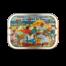 Sardines met peper en gemengde groente