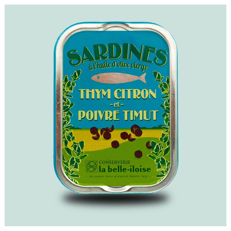 La belle-iloise - sardines met timut peper