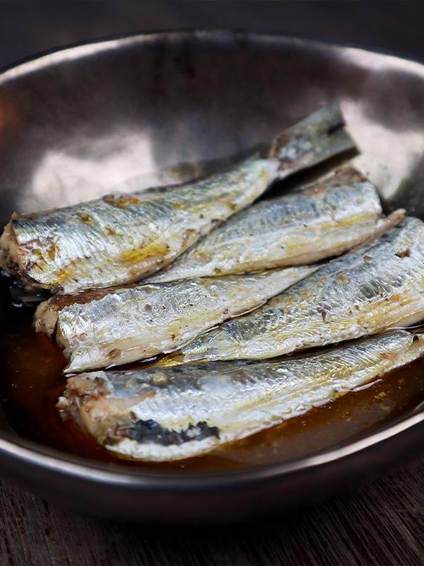 Sardines met gegrilde paprika La Perle des Dieux
