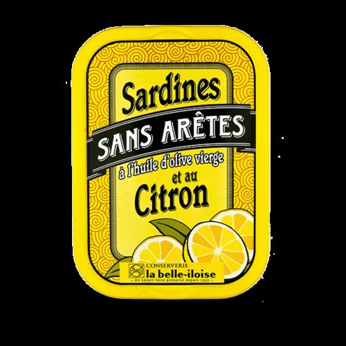Sardines zonder graat met citroen